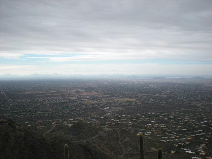 The view of Phoenix from the top of Balck Mountain
