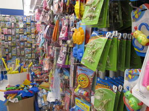 Toy display at the 99 Cents Only store