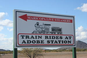 Sign to Adobe Western Railroad