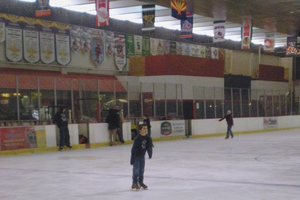 People skating in Arcadia Ice Arena