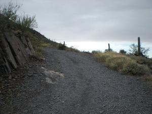 The jeep road section of Black Mountain Trail