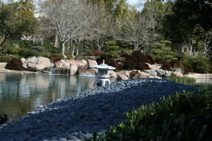 A view across the koi pond at Ro Ho En