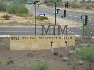 The sign in front of the Musical Instrment Museum