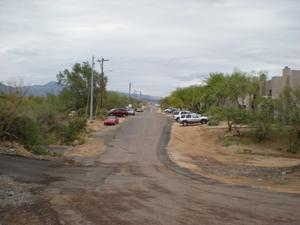 The parking area at Balck Mountain Trail Head