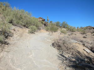 A trail climbing a hill in South Mountain Park
