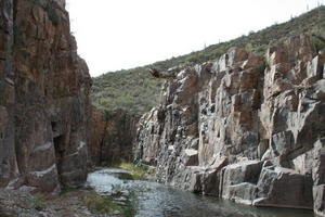 The walls of Aravaipa Canyon