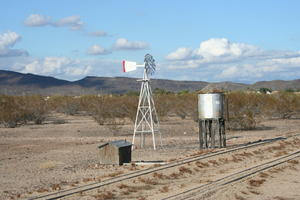 Scenery along the track at Adobe Western Railroad