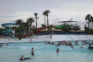 Looking across the wavepool at Big Surf Waterpark