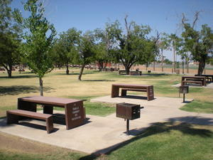 The picnic area at Sahauro Ranch Park