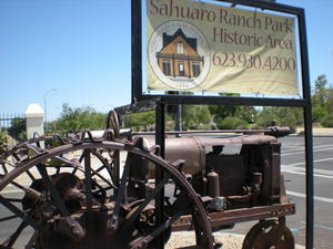 The sign at the entry of Sahauro Ranch Park