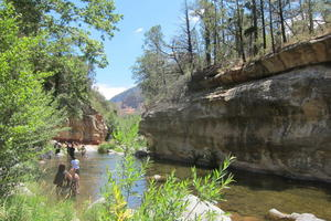 A swimming hole in Oak Creek Canyon just north of Sedona