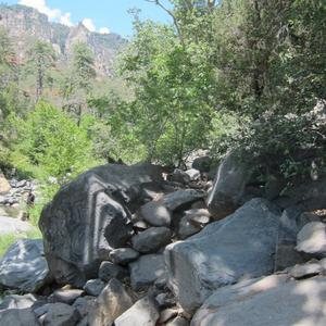 Some of the rocks you have to scramble over if you hike along the creek.