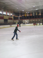 A man skating at Arcadia Ice Arena