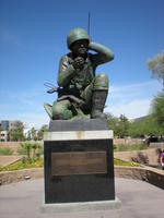 Statue of a Navajo Code Talker in Bolin Memorial Park
