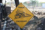 Train Crossing Sign at Adobe Western Railroad